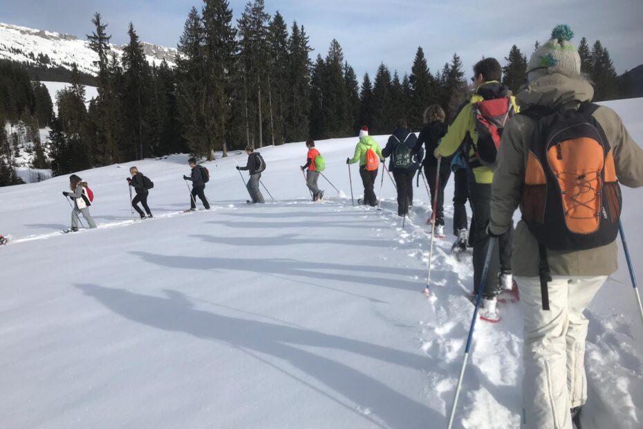 Polysportgruppe STV Reiden auf Schneeschuhtour